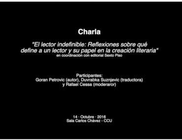 """Charla con Goran Petrovic """"El lector indefinible: Reflexiones sobre qué define a un lector y su papel en la creación literaria"""